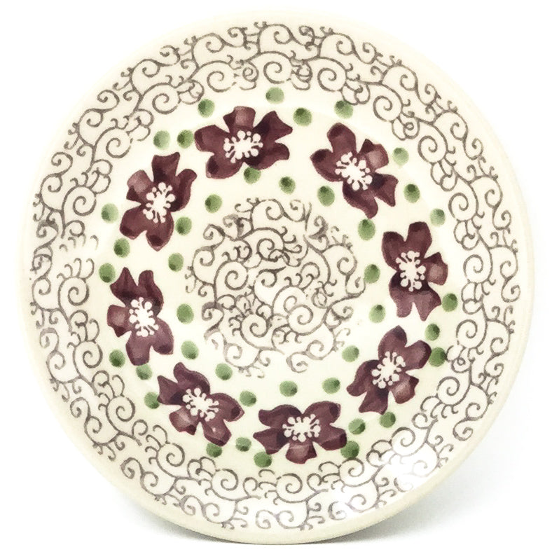 Bread & Butter Plate in Purple & Gray Flowers