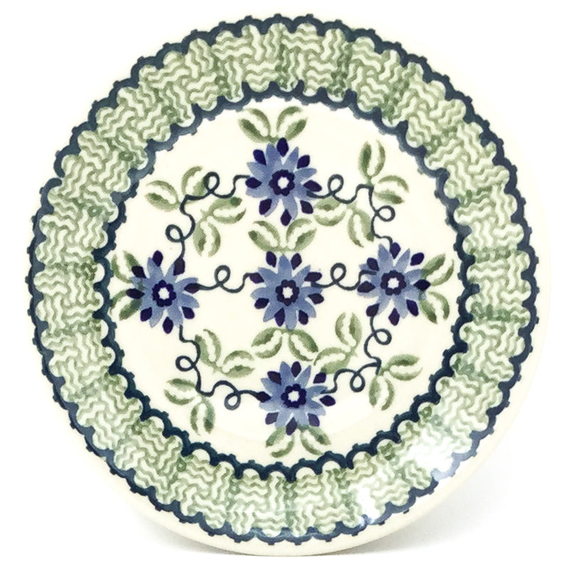 Bread & Butter Plate in Blue & Green Flowers