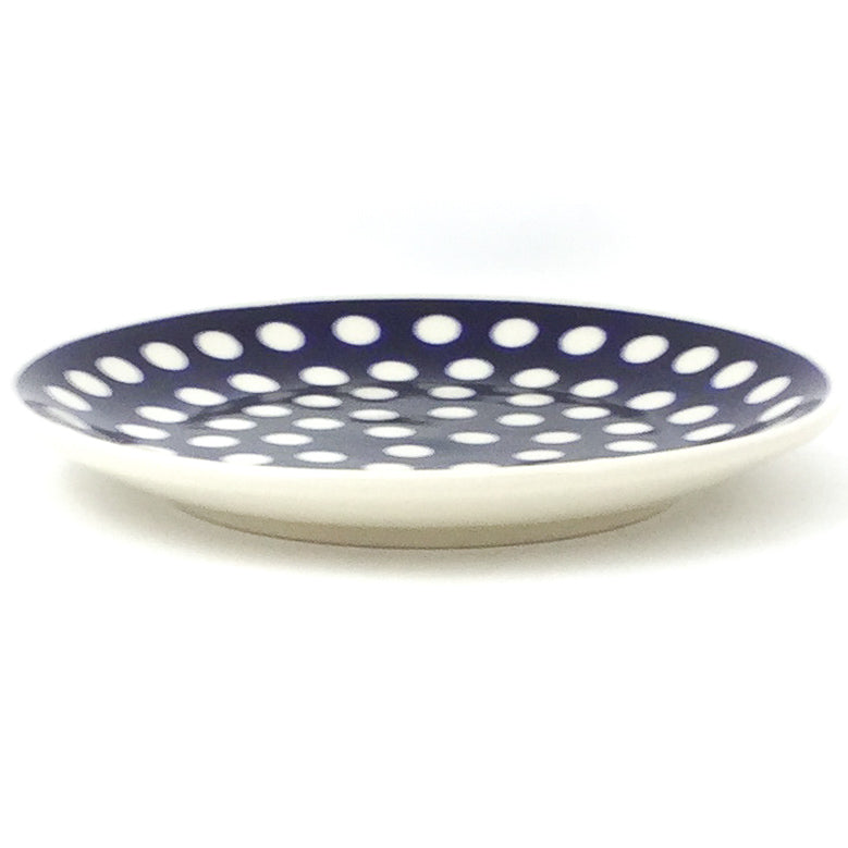 Bread & Butter Plate in White Polka-Dot
