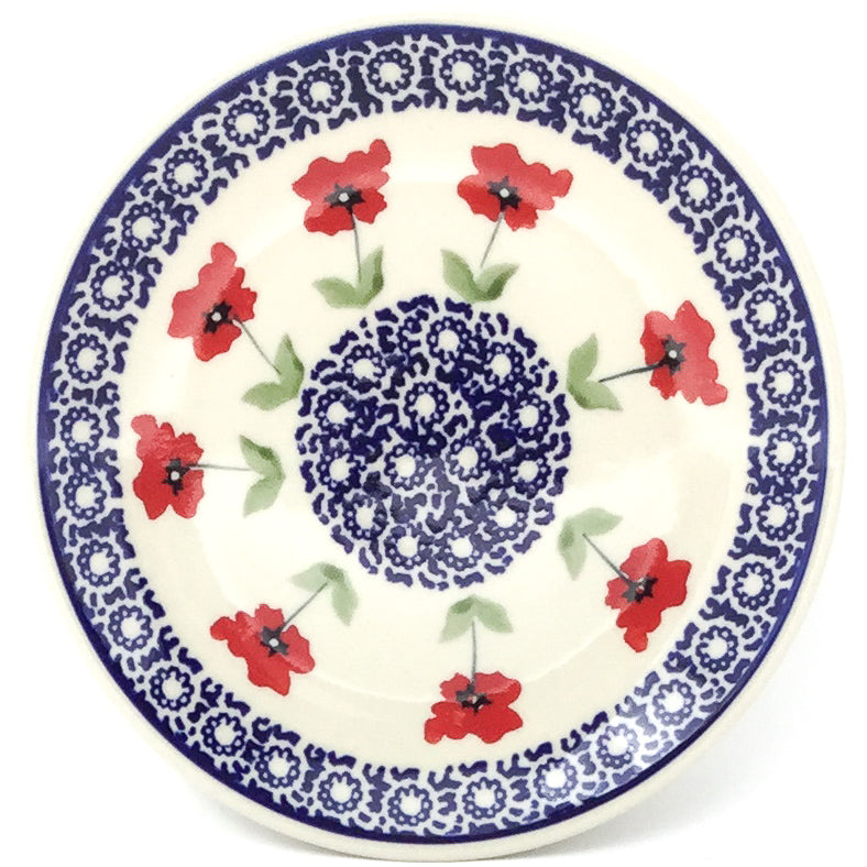 Bread & Butter Plate in Red Daisy