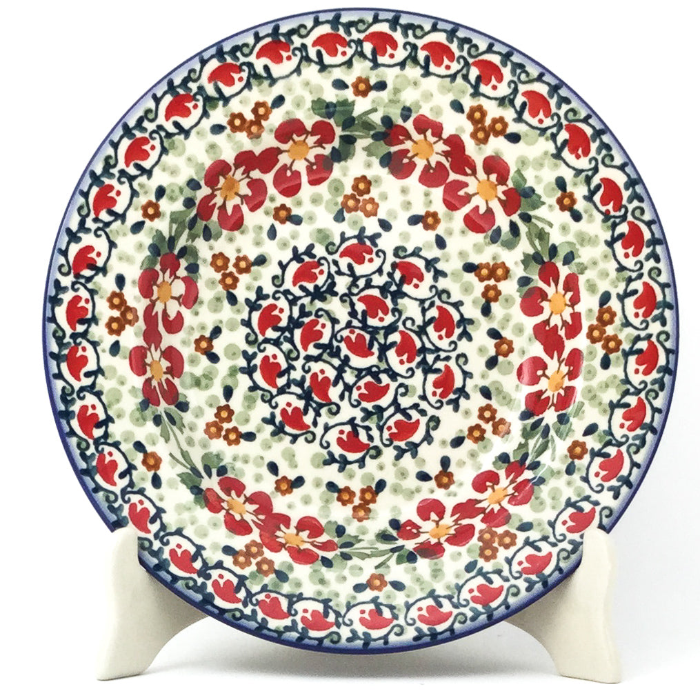 Soup Plate in Red Poppies