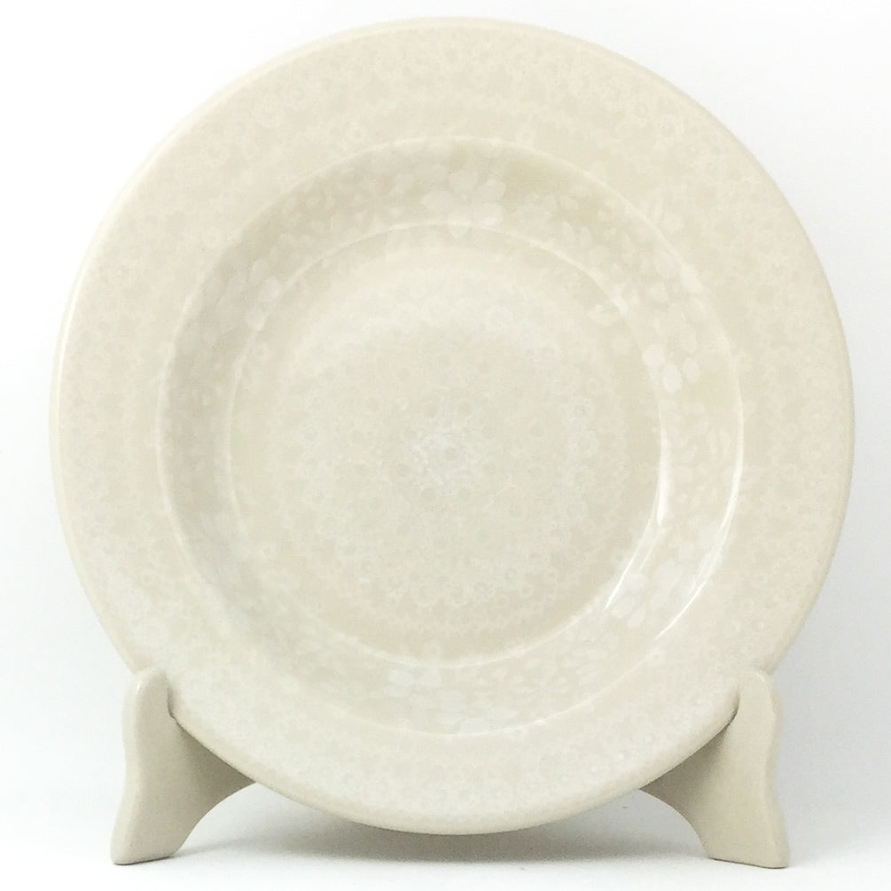 Soup Plate in White on White