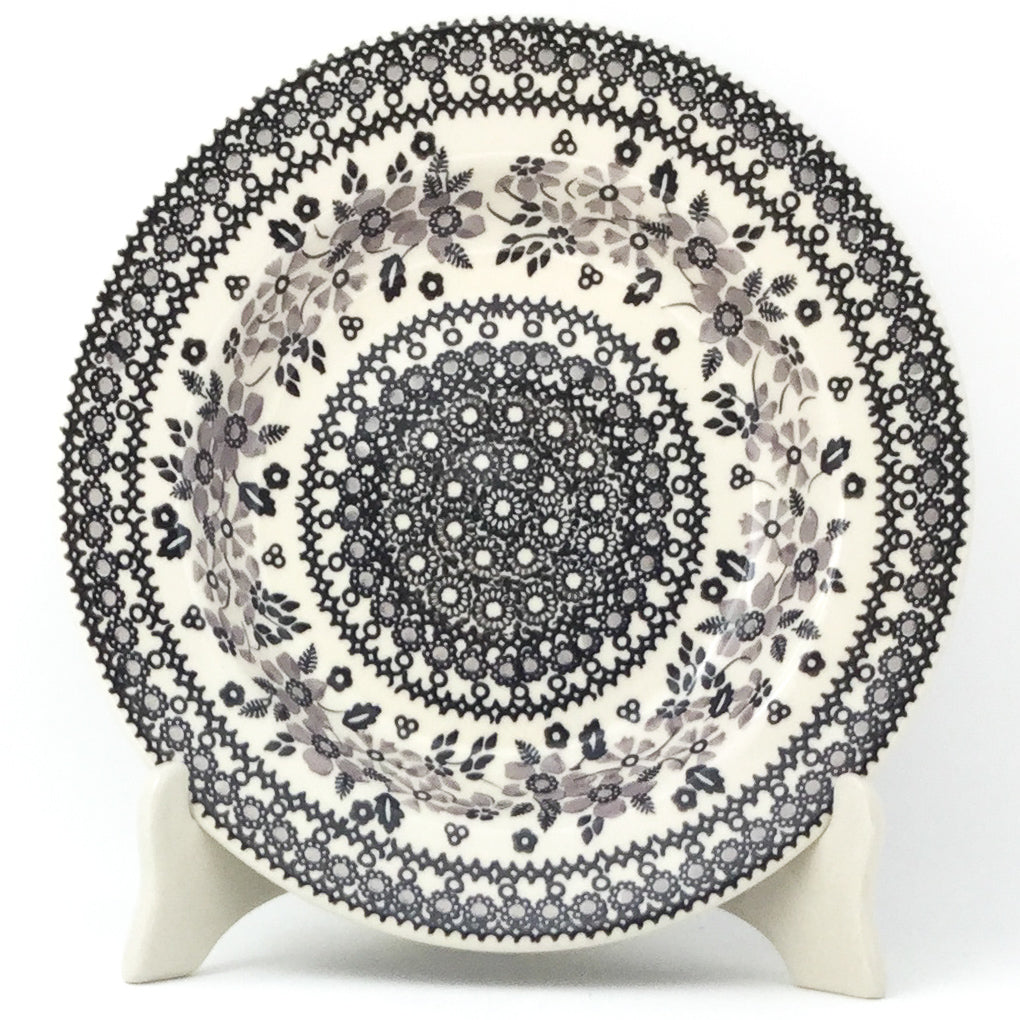 Soup Plate in Gray & Black