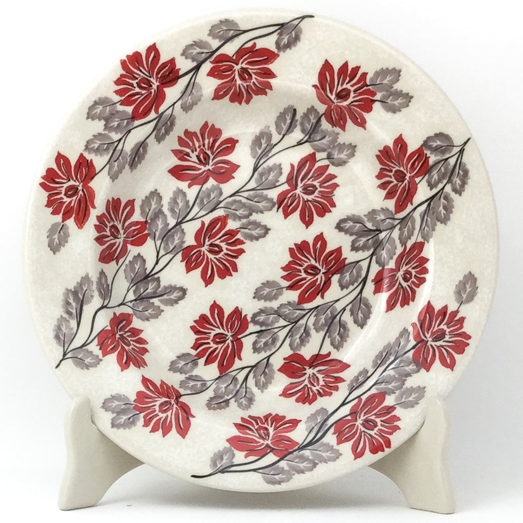 Soup Plate in Red & Gray