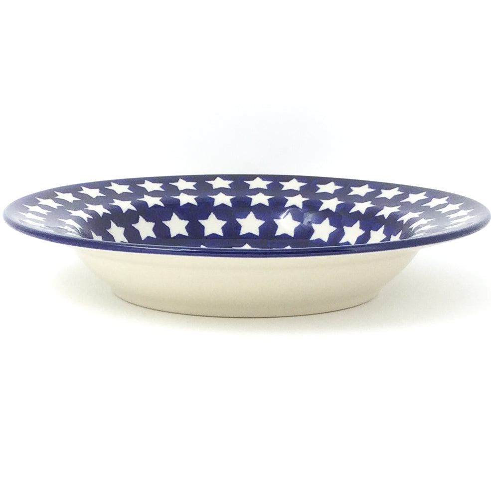 Soup Plate in White Stars