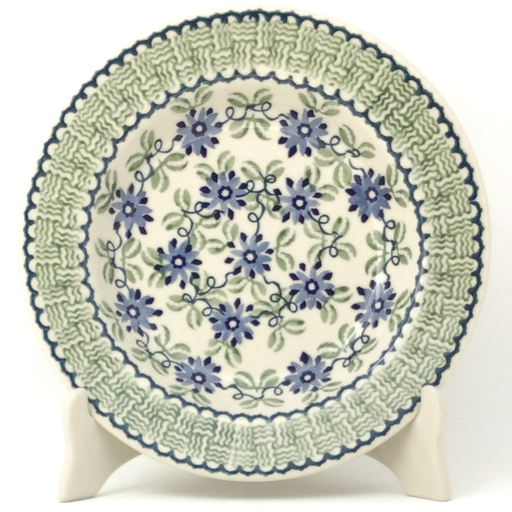 Soup Plate in Blue & Green Flowers