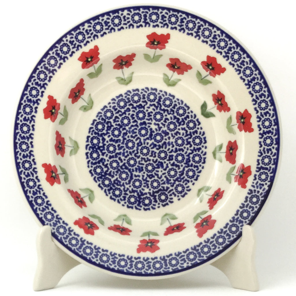 Soup Plate in Red Daisy