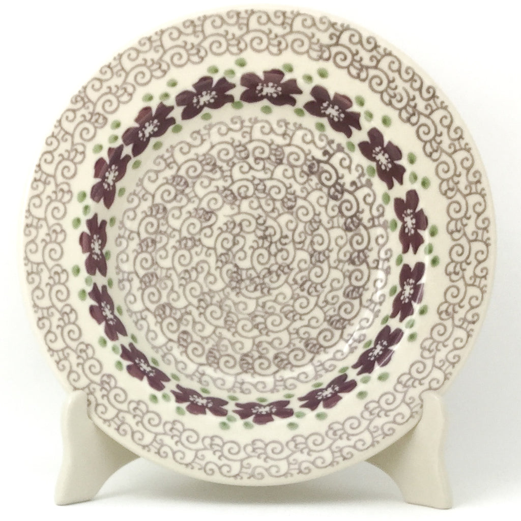 Soup Plate in Purple & Gray Flowers