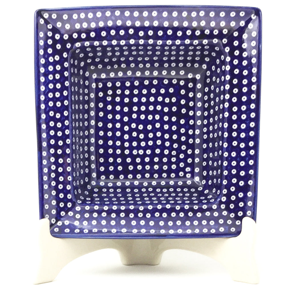 Square Soup Plate in Blue Elegance