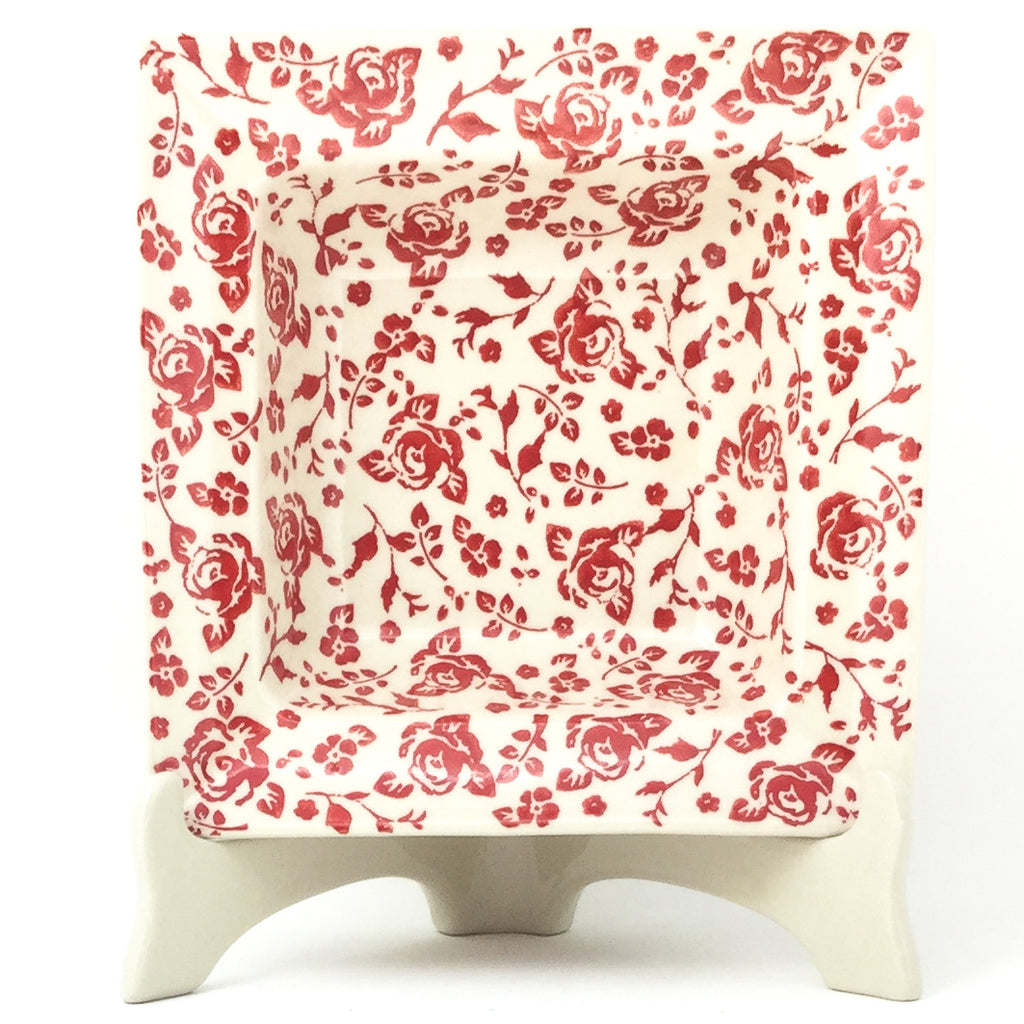 Square Soup Plate in Antique Red