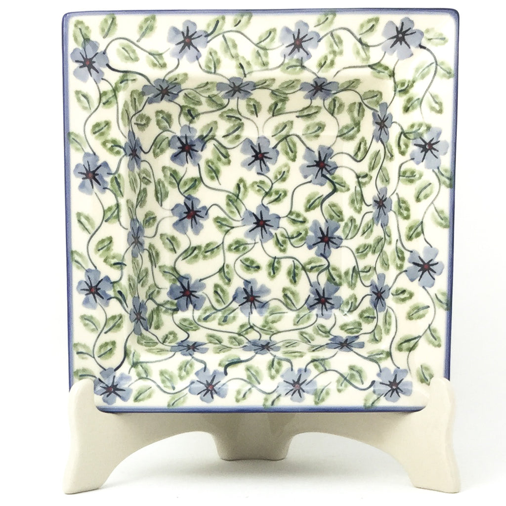 Square Soup Plate in Blue Clematis