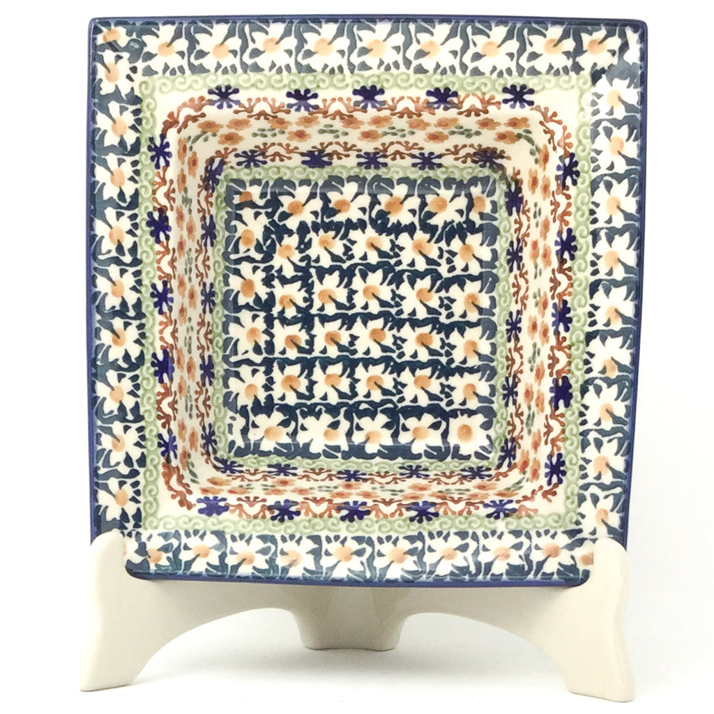 Square Soup Plate in White Daisy