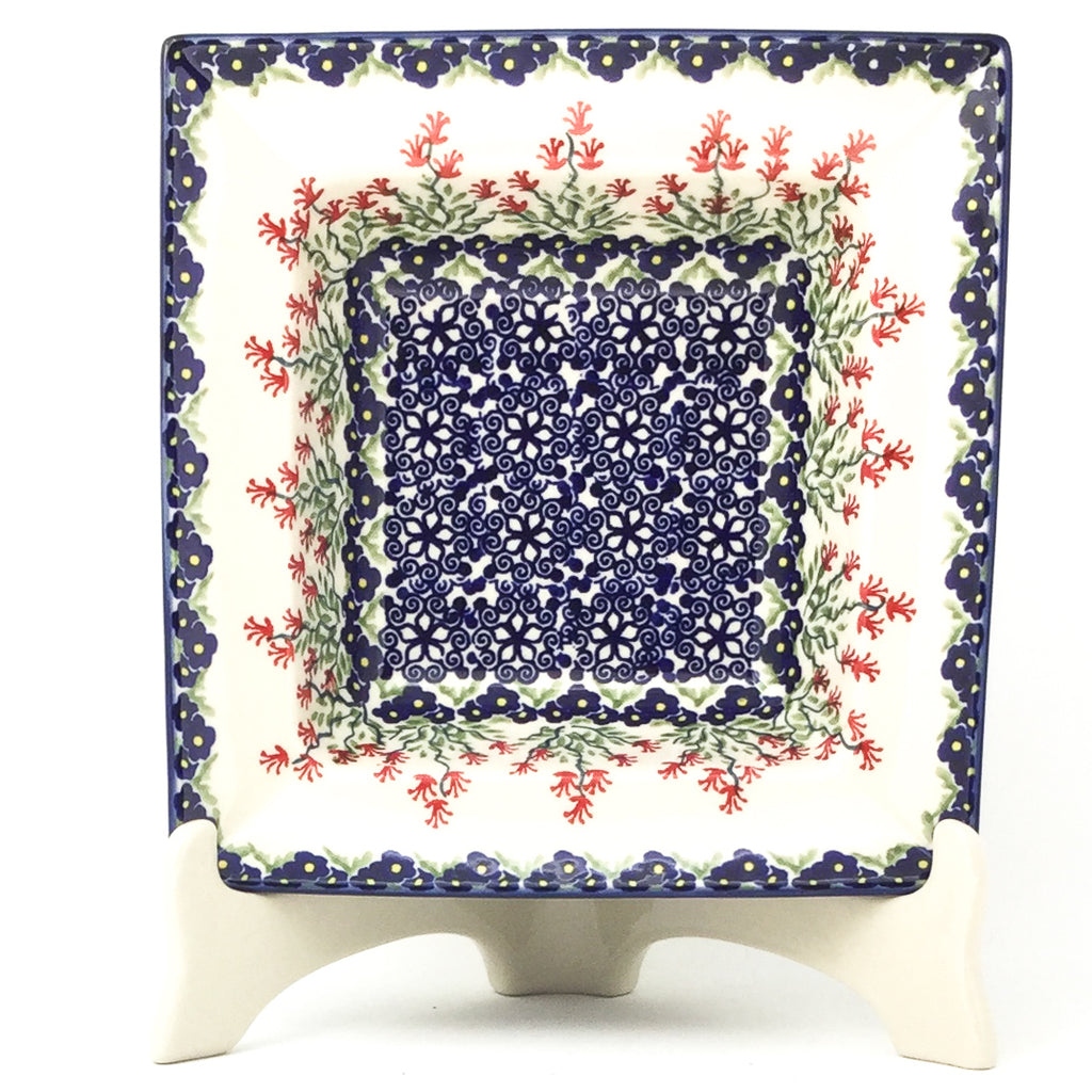 Square Soup Plate in Field of Flowers