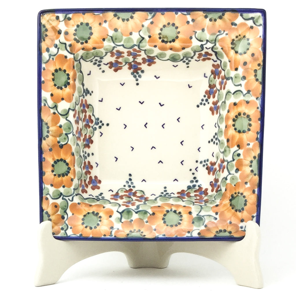Square Soup Plate in Fall