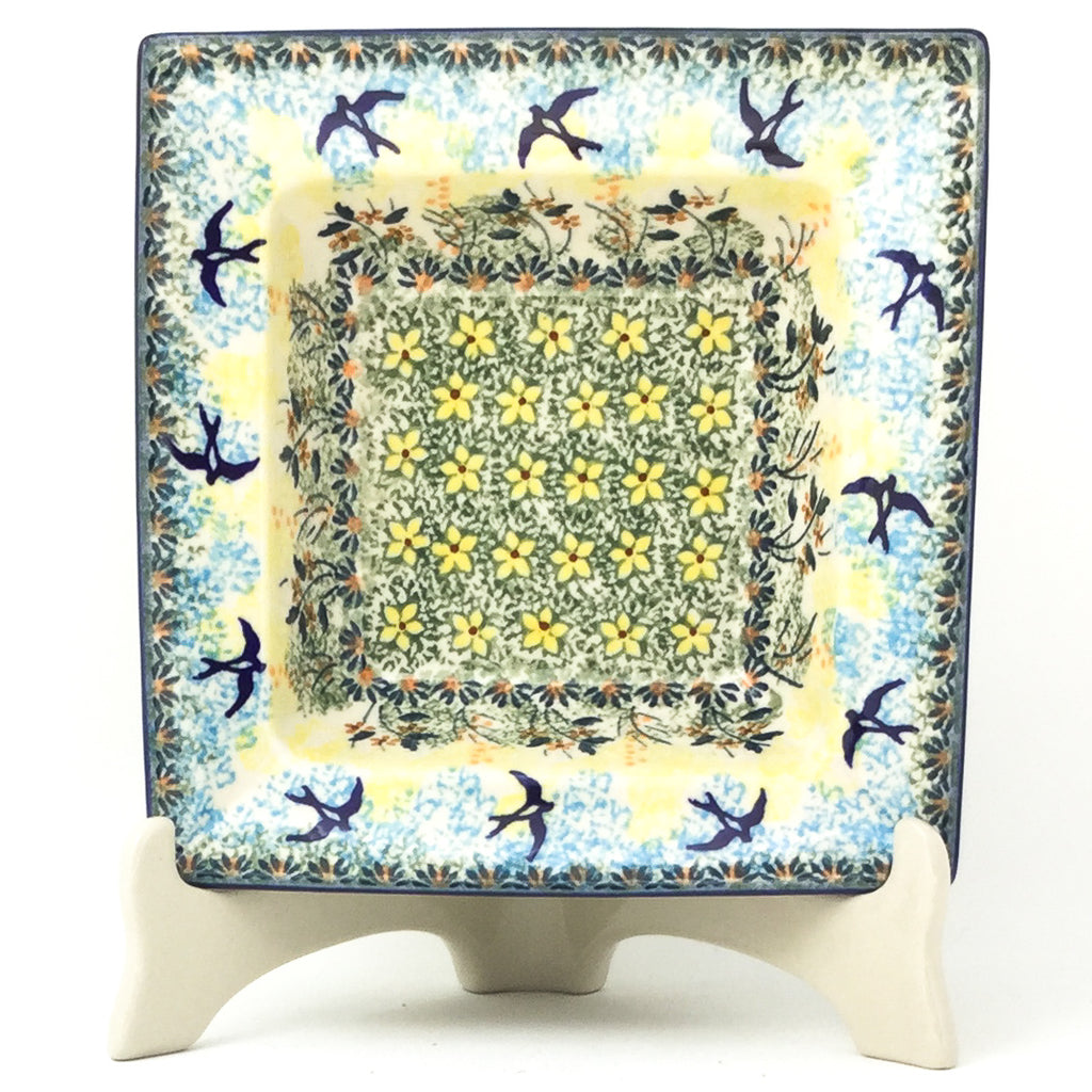 Square Soup Plate in Birds