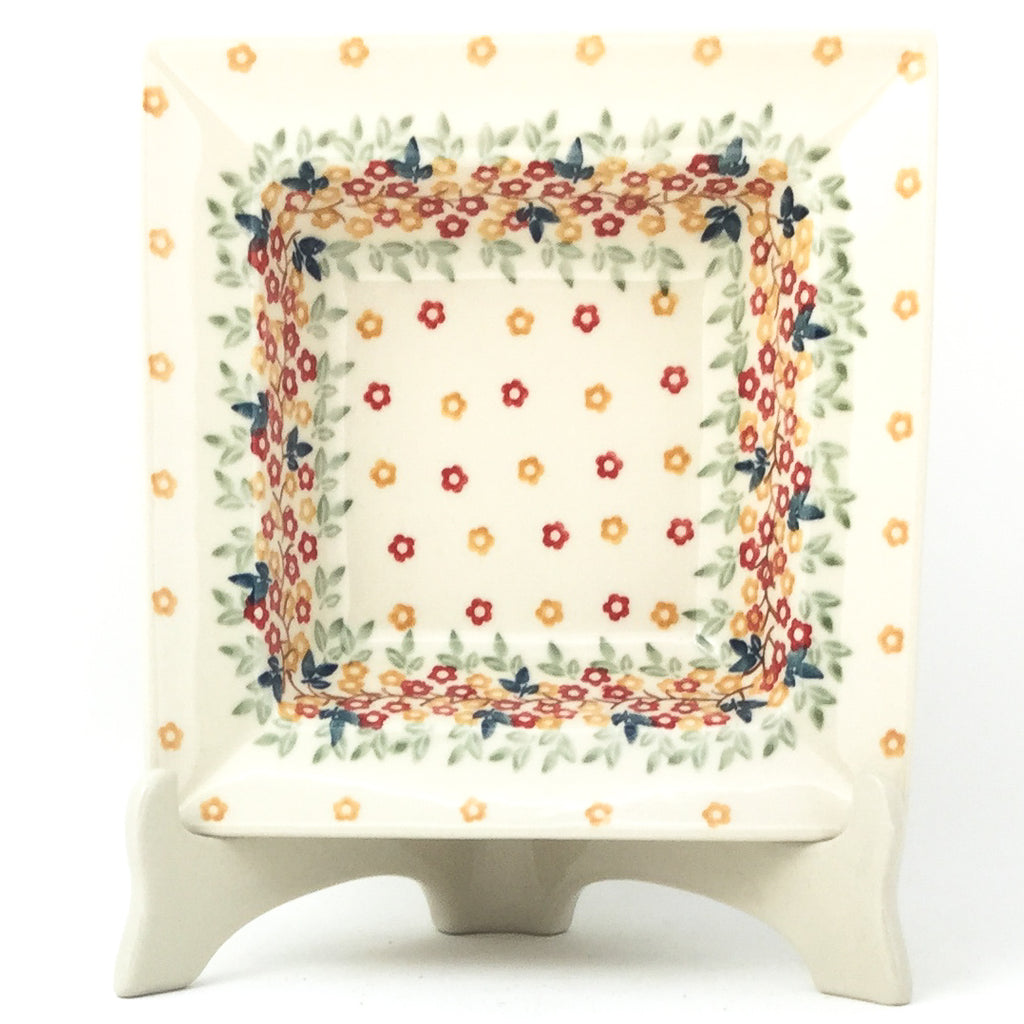 Square Soup Plate in Tiny Flowers