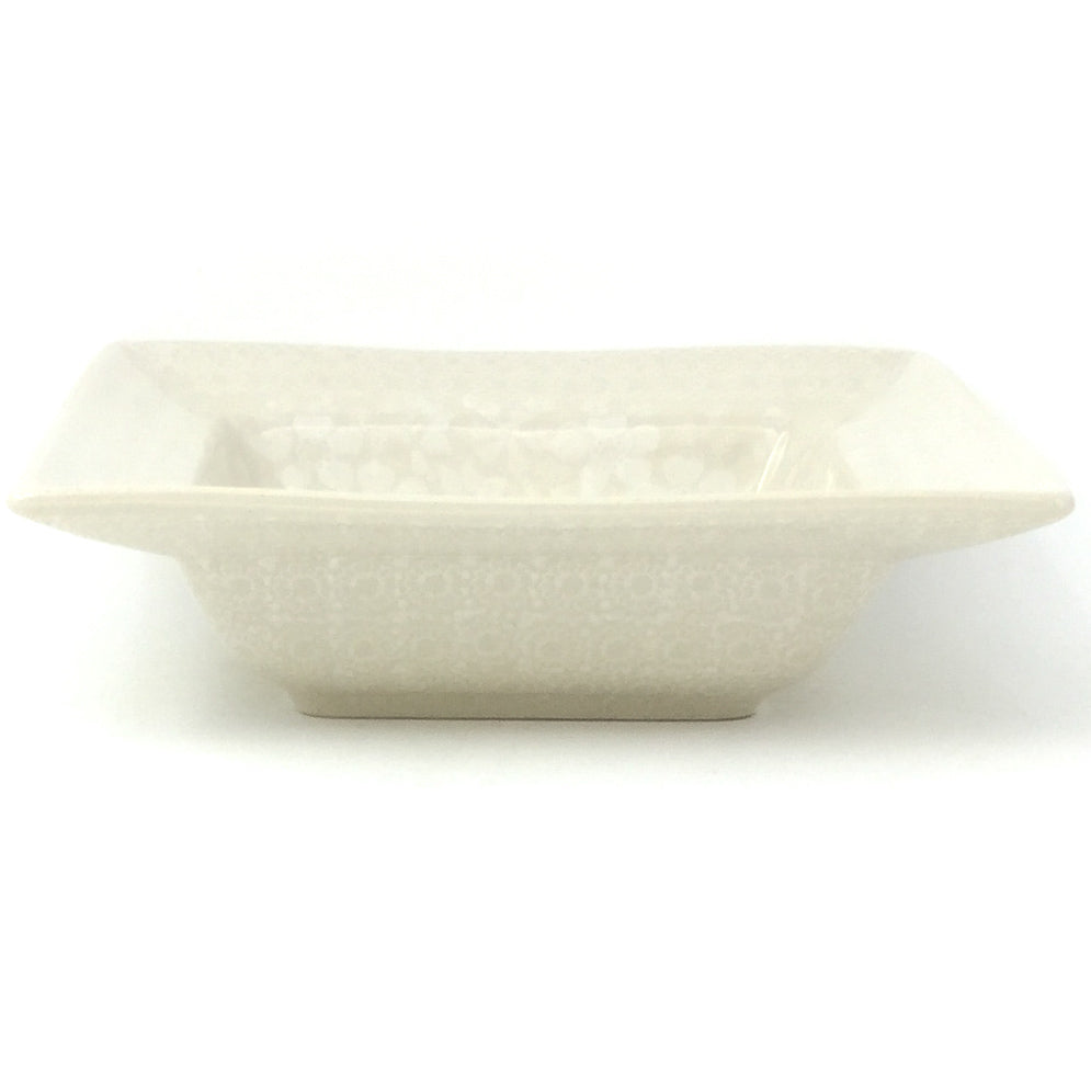 Square Soup Plate in White on White