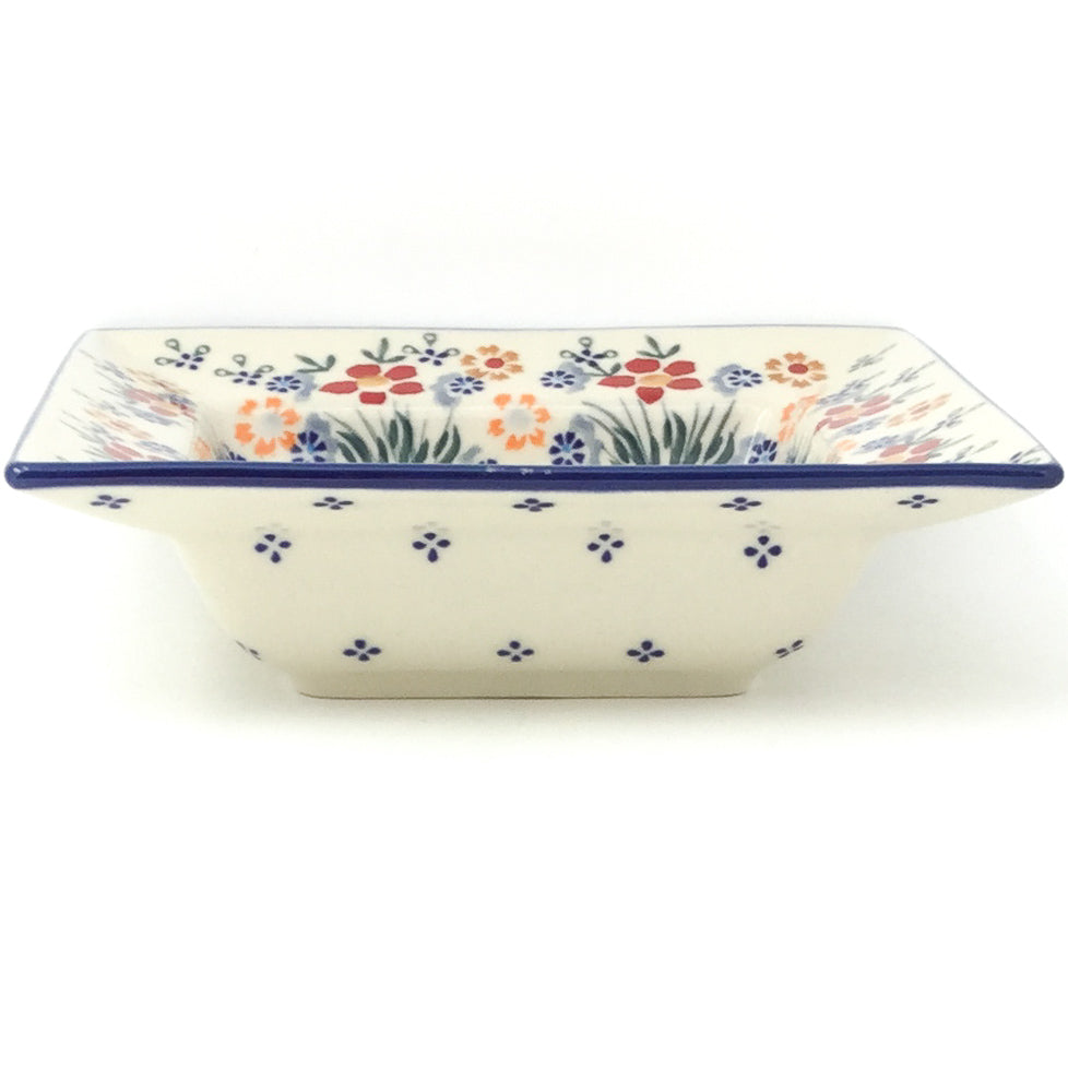 Square Soup Plate in Delicate Flowers