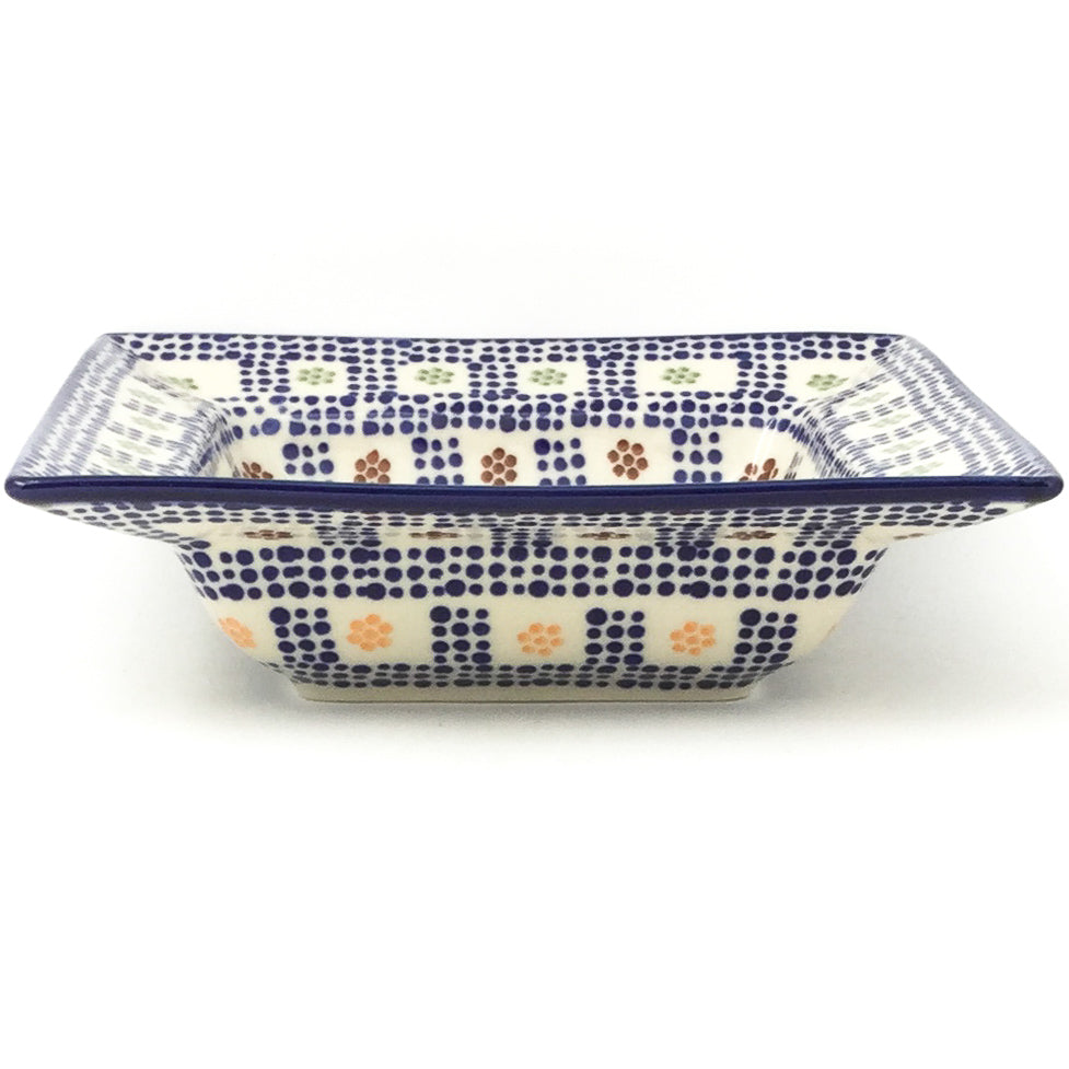 Square Soup Plate in Modern Checkers