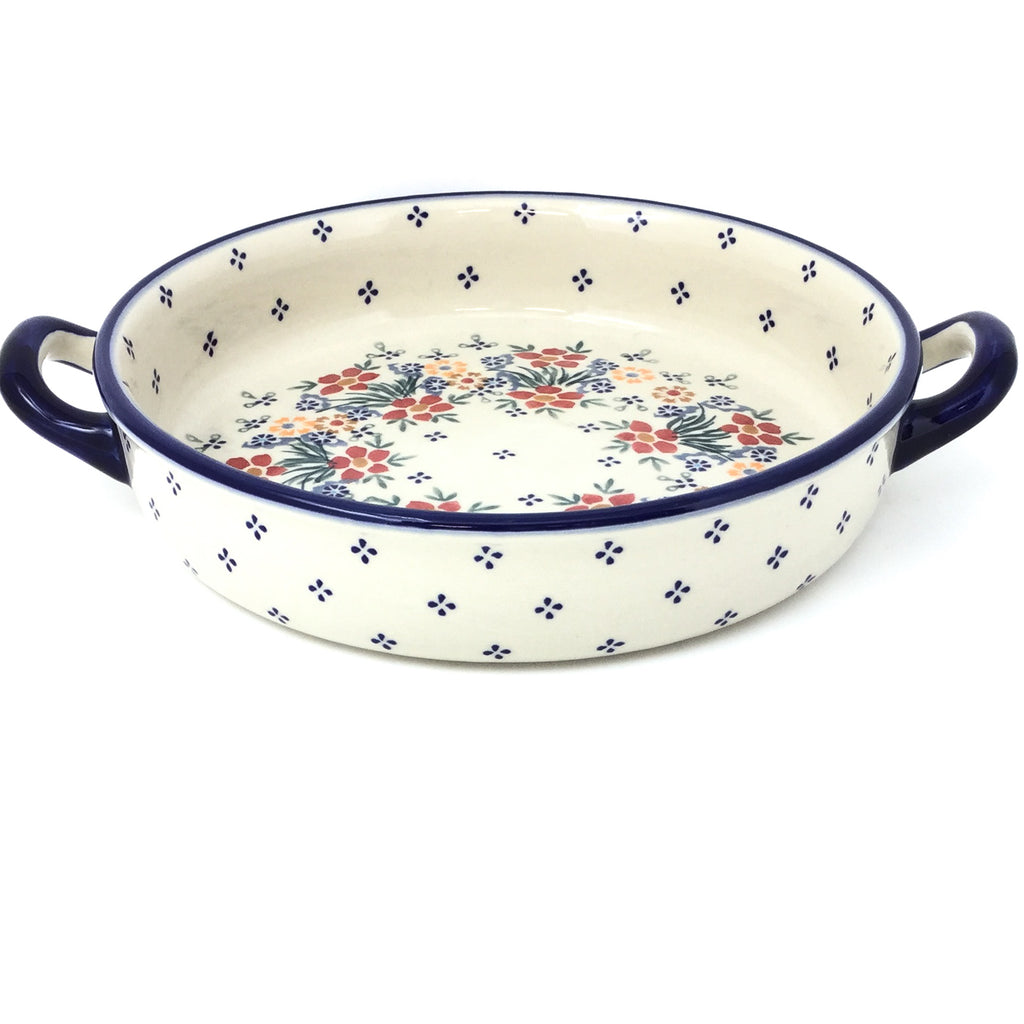 Round Baker w/Handles in Delicate Flowers