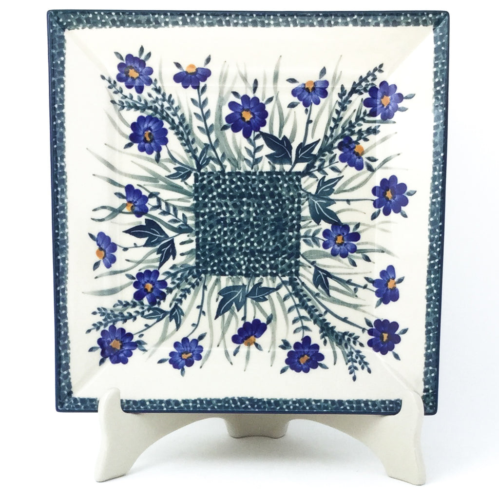 Square Dinner Plate in Wild Blue