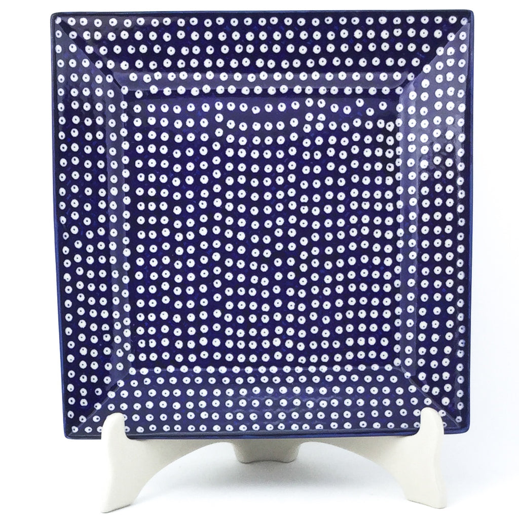 Square Dinner Plate in Blue Elegance
