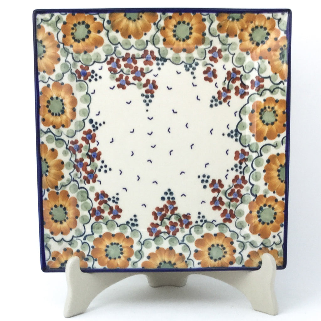 Square Dinner Plate in Fall