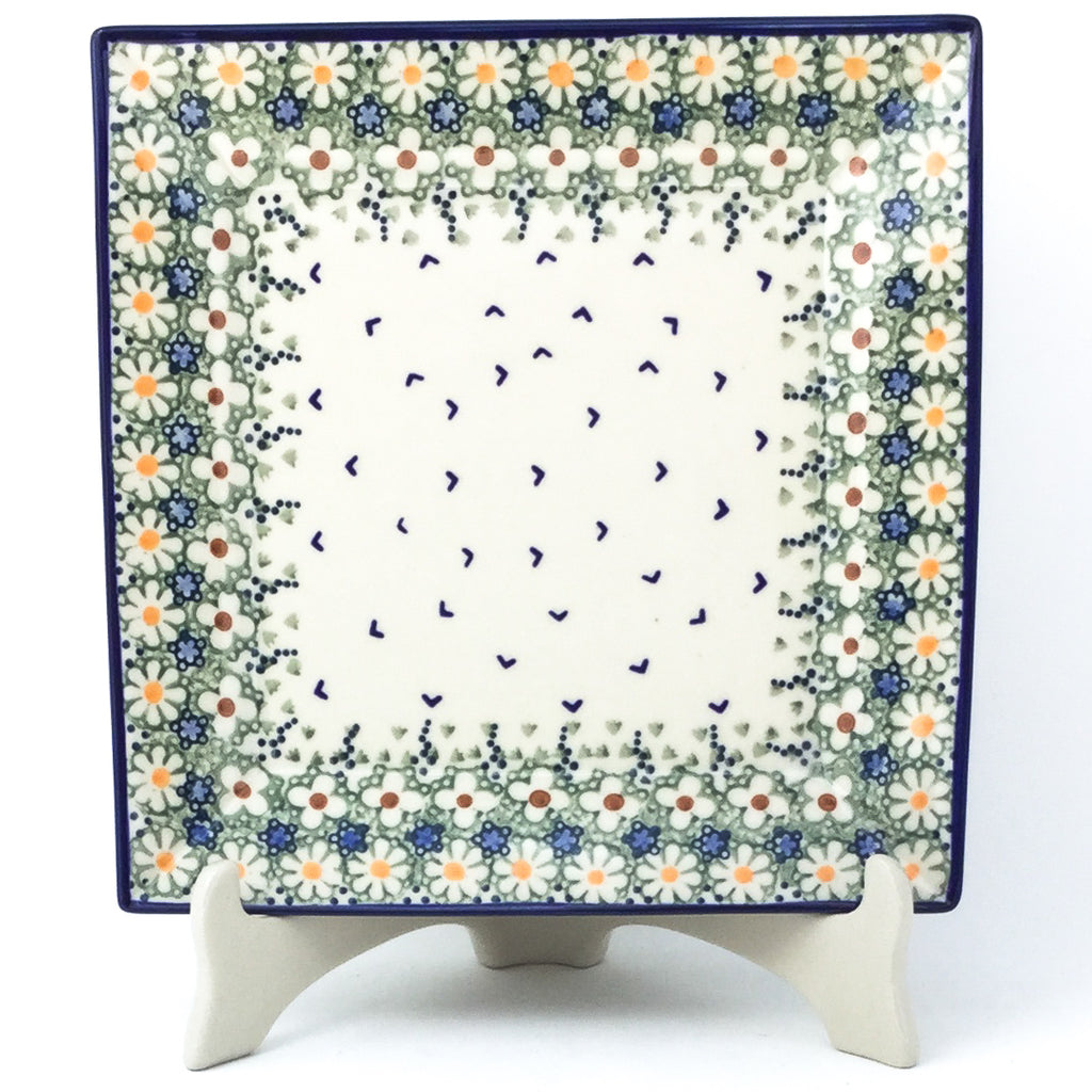 Square Dinner Plate in Spring