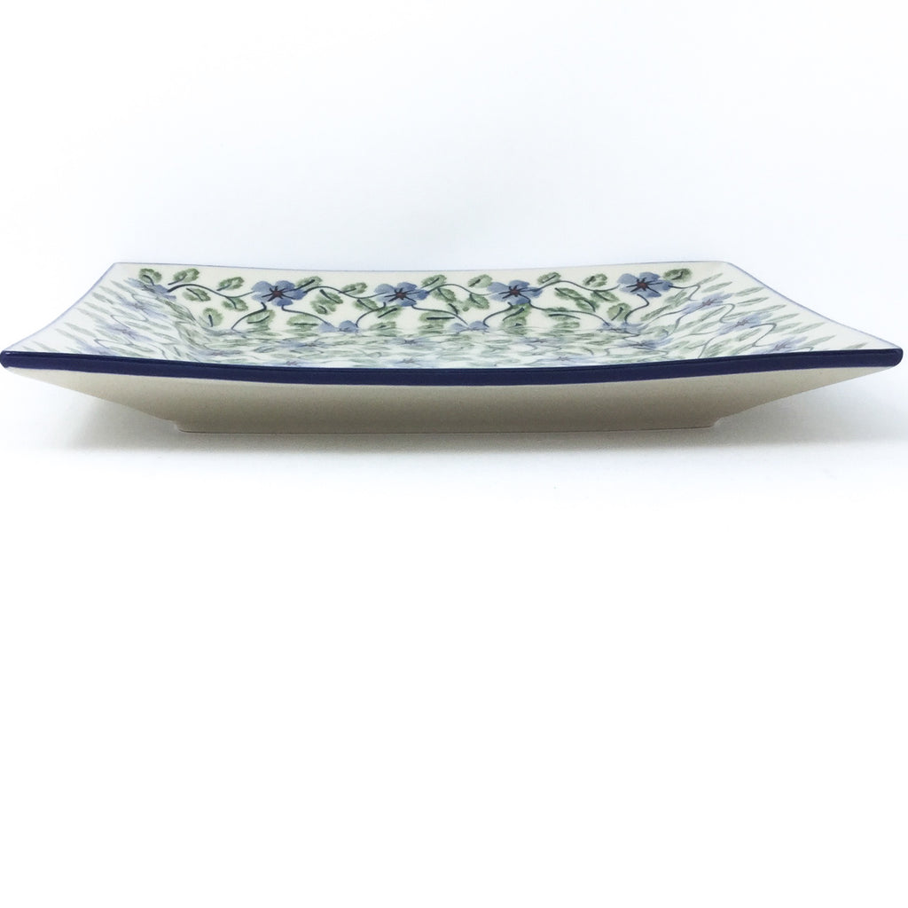 Square Dinner Plate in Blue Clematis