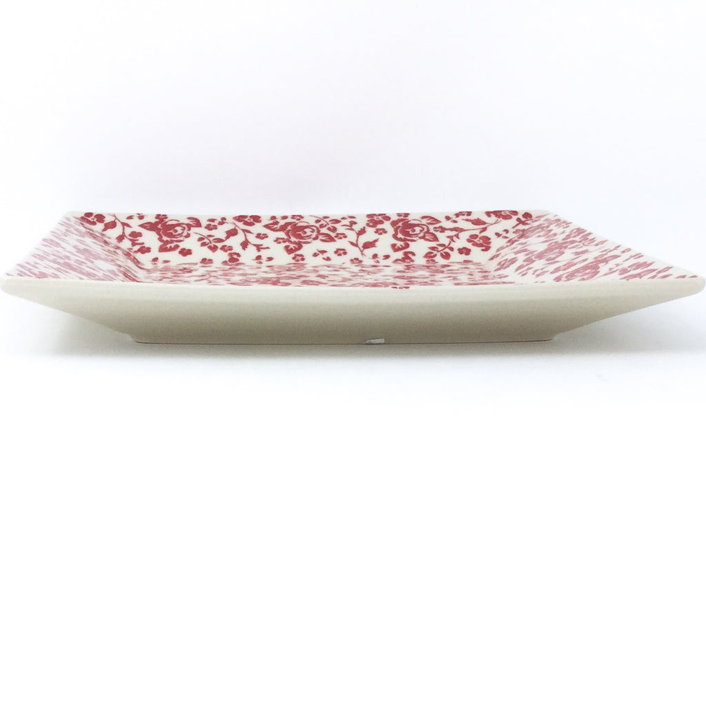 Square Dinner Plate in Antique Red