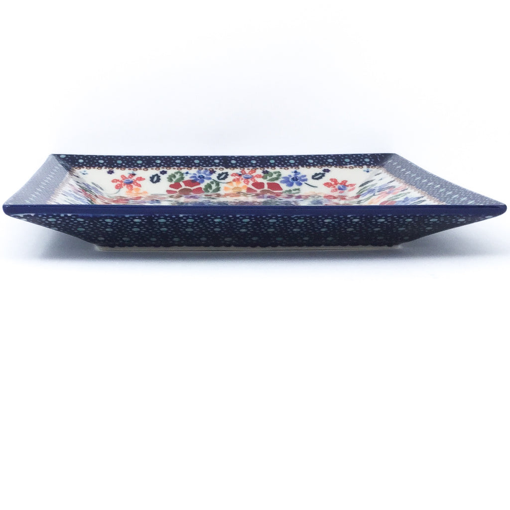 Square Dinner Plate in Wild Flowers