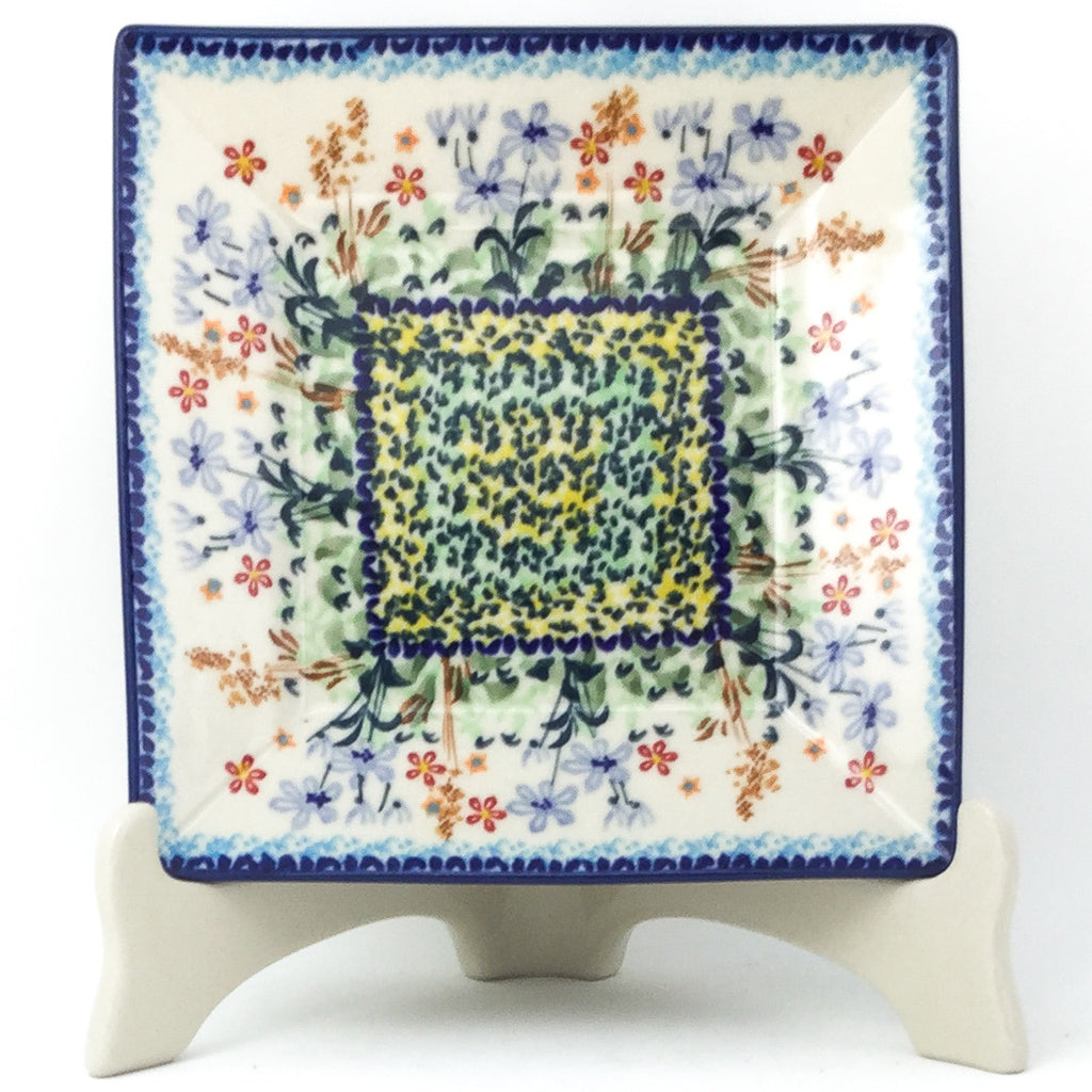 Square Luncheon Plate in Country Spring