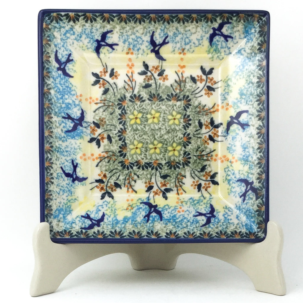 Square Luncheon Plate in Birds