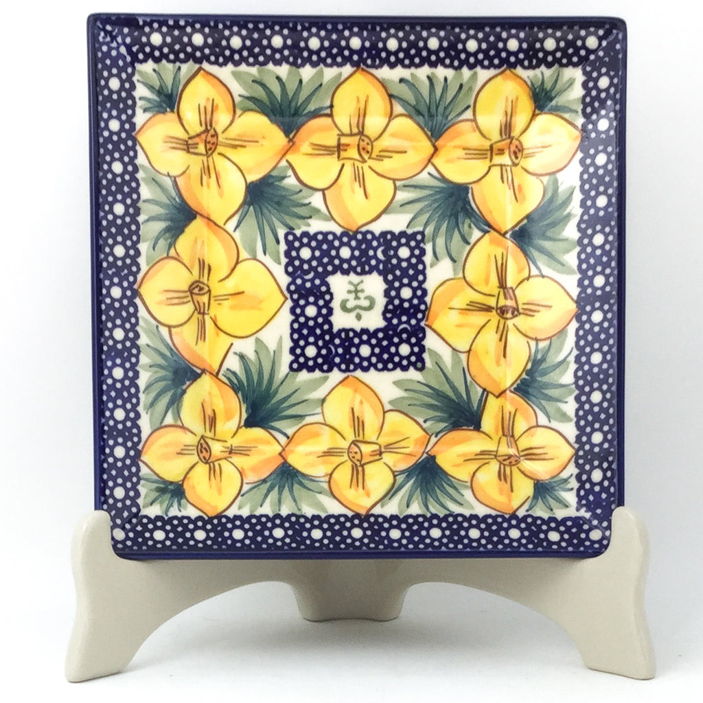Square Luncheon Plate in Daffodils