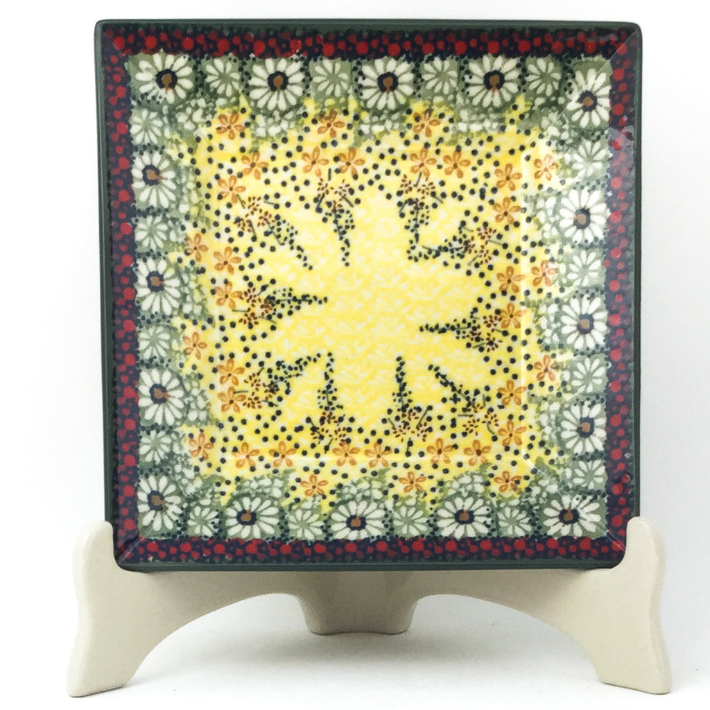 Square Luncheon Plate in Cottage Decor
