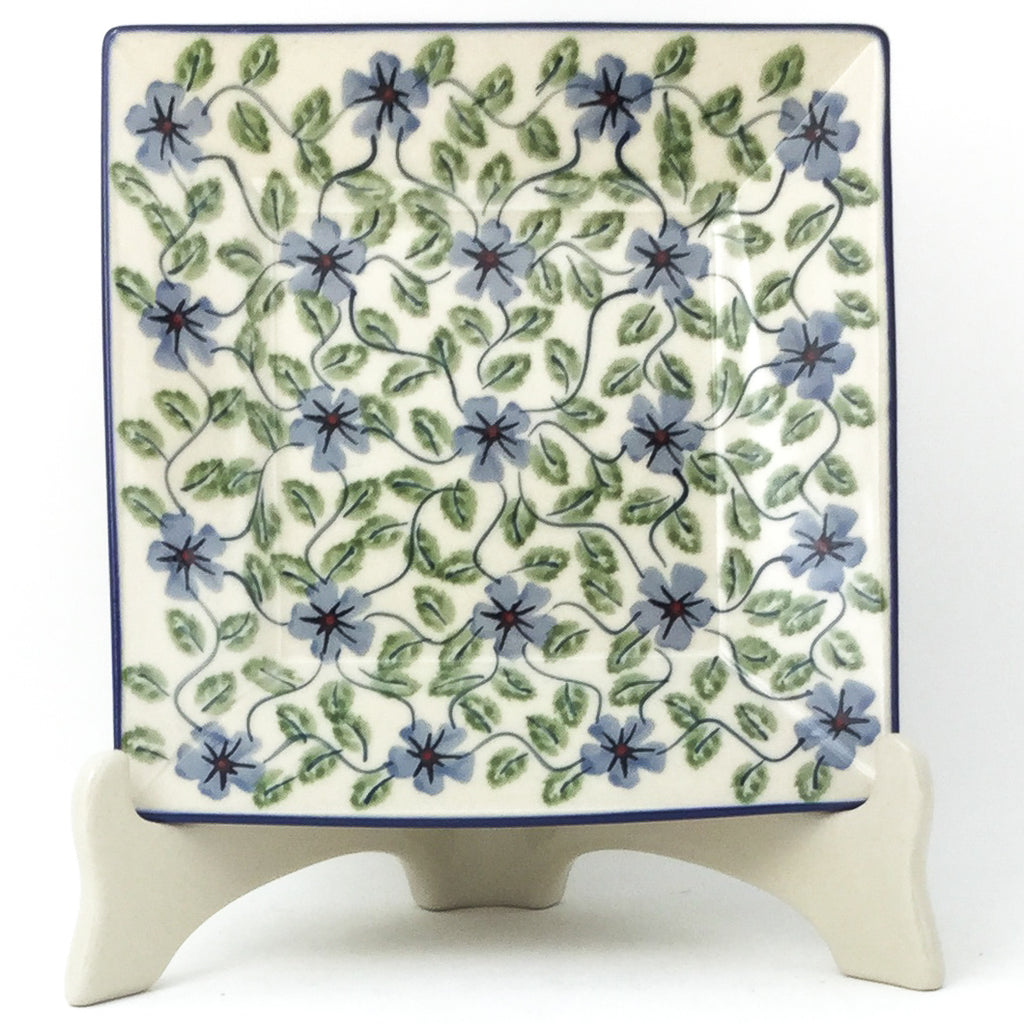 Square Luncheon Plate in Blue Clematis