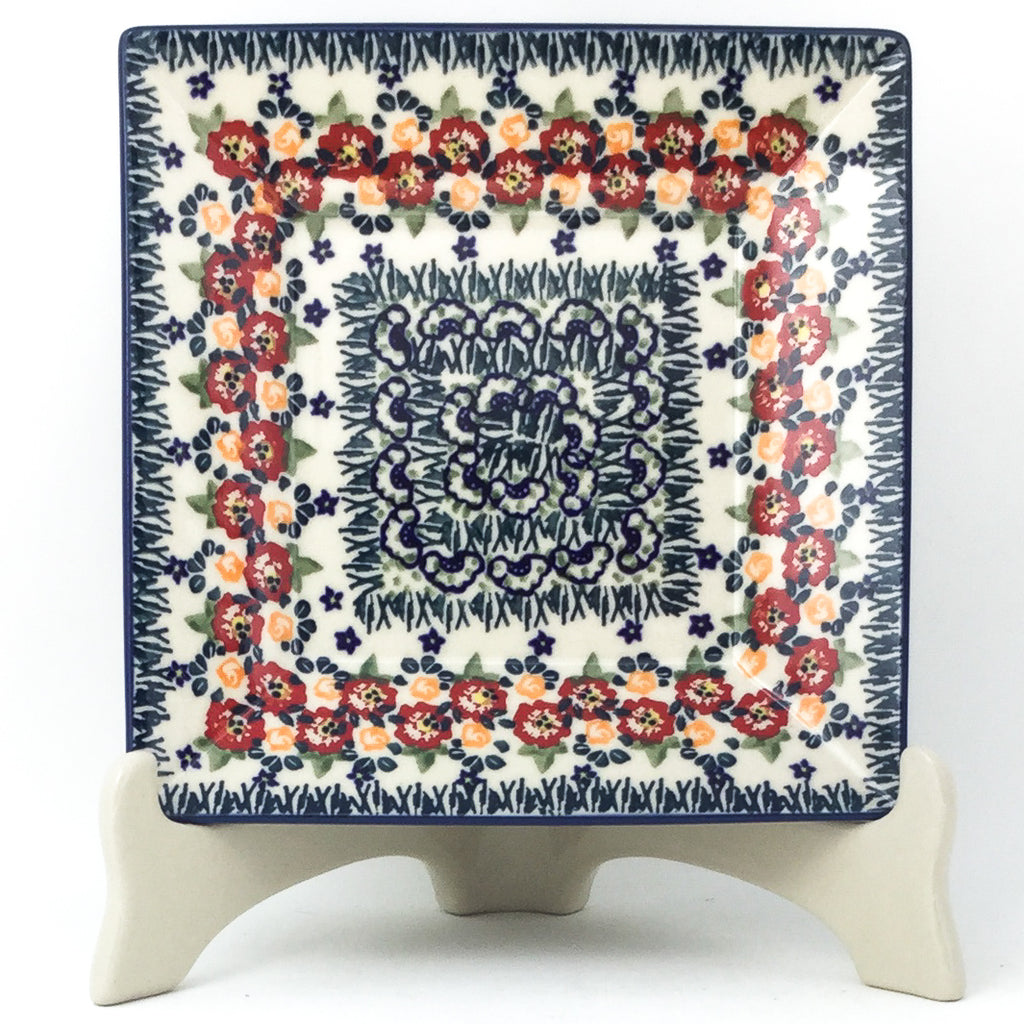 Square Luncheon Plate in Wild Roses