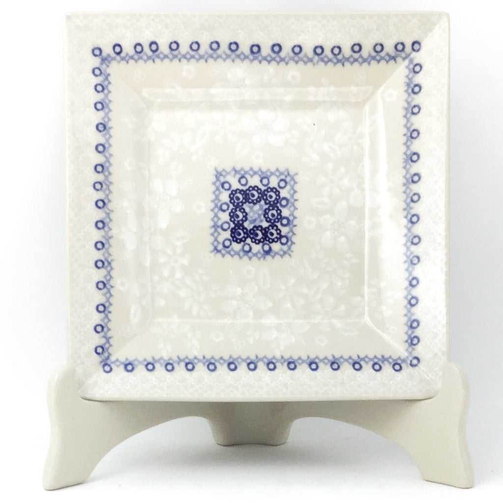 Square Luncheon Plate in Delicate Blue