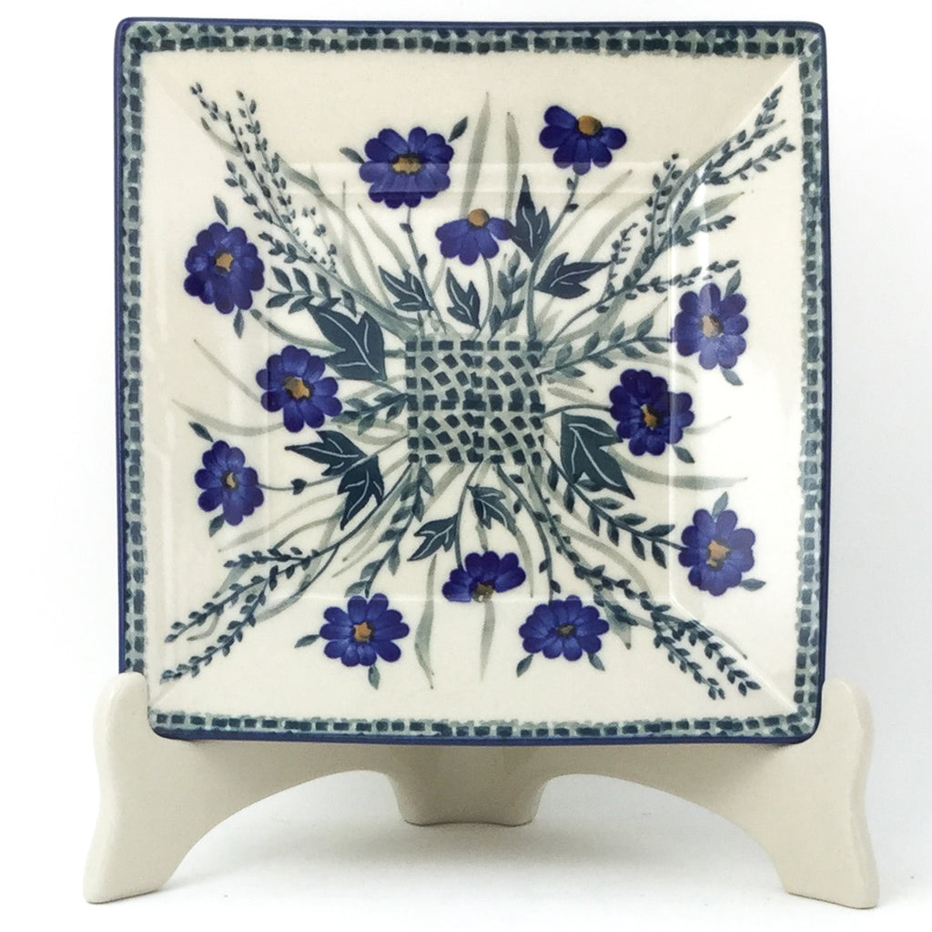 Square Luncheon Plate in Wild Blue