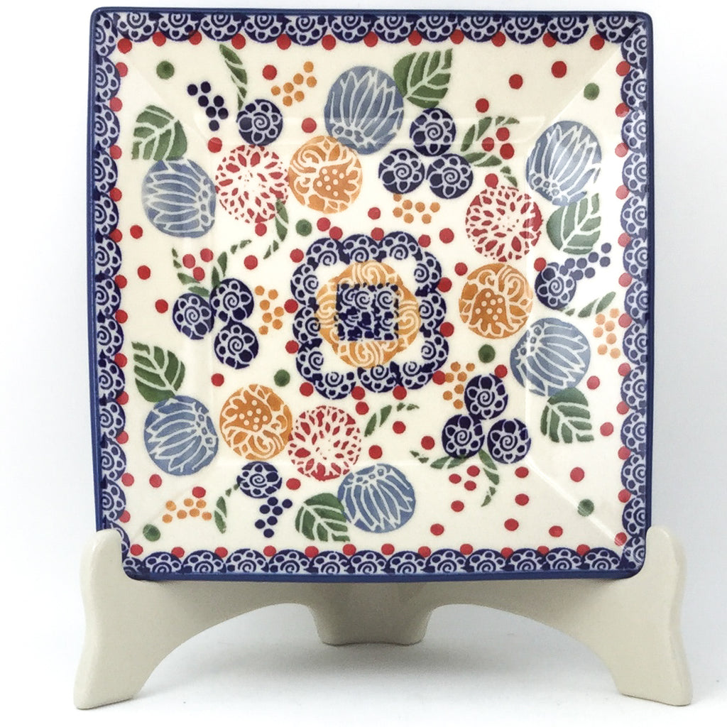 Square Luncheon Plate in Modern Berries