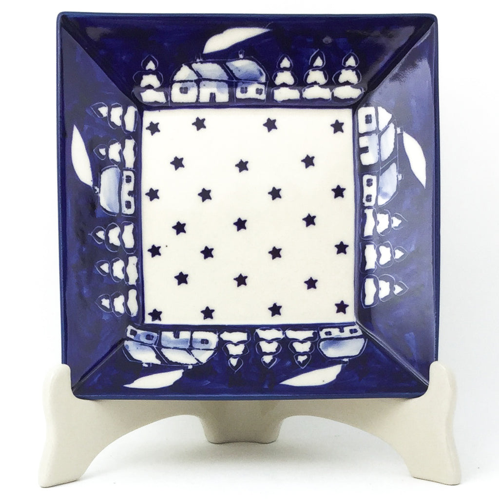 Square Luncheon Plate in Winter