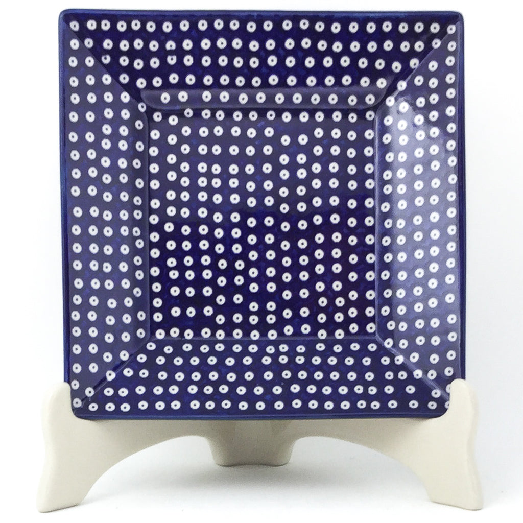 Square Luncheon Plate in Blue Elegance