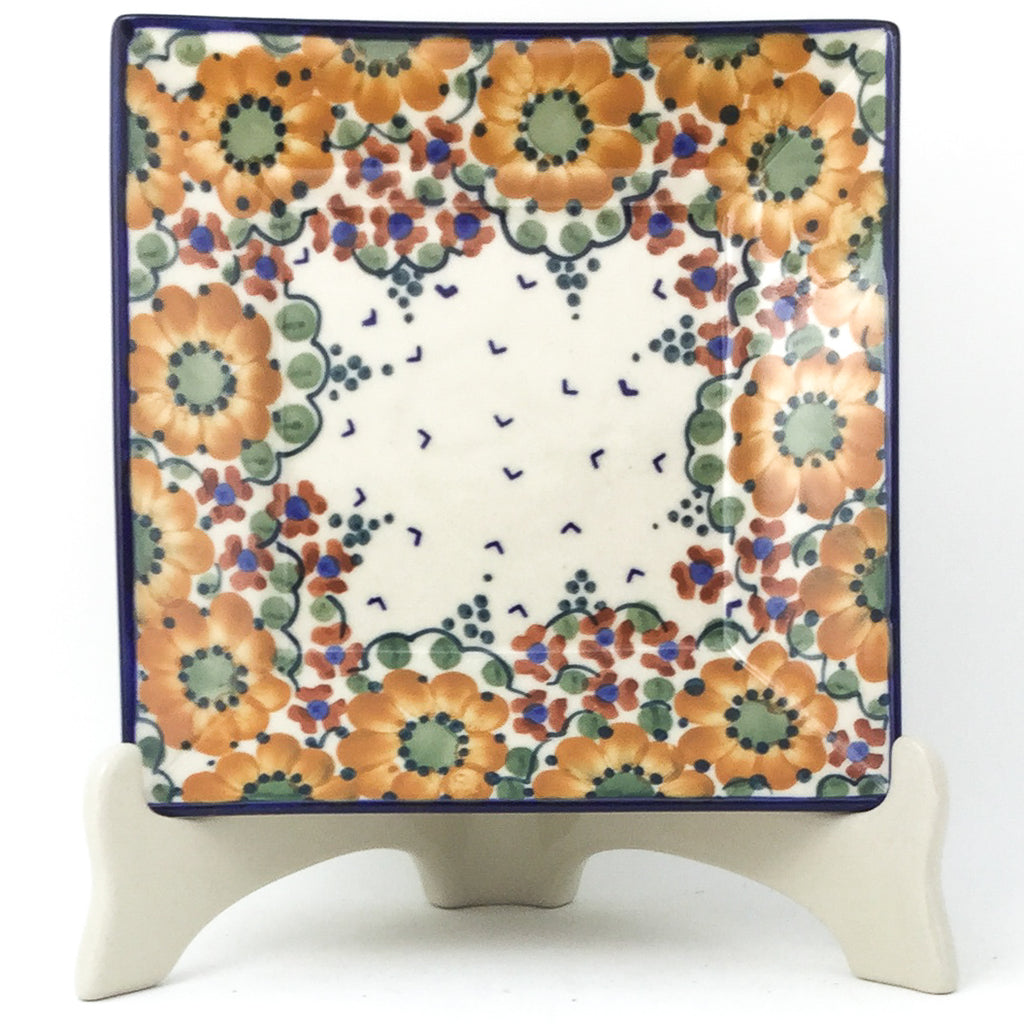 Square Luncheon Plate in Fall