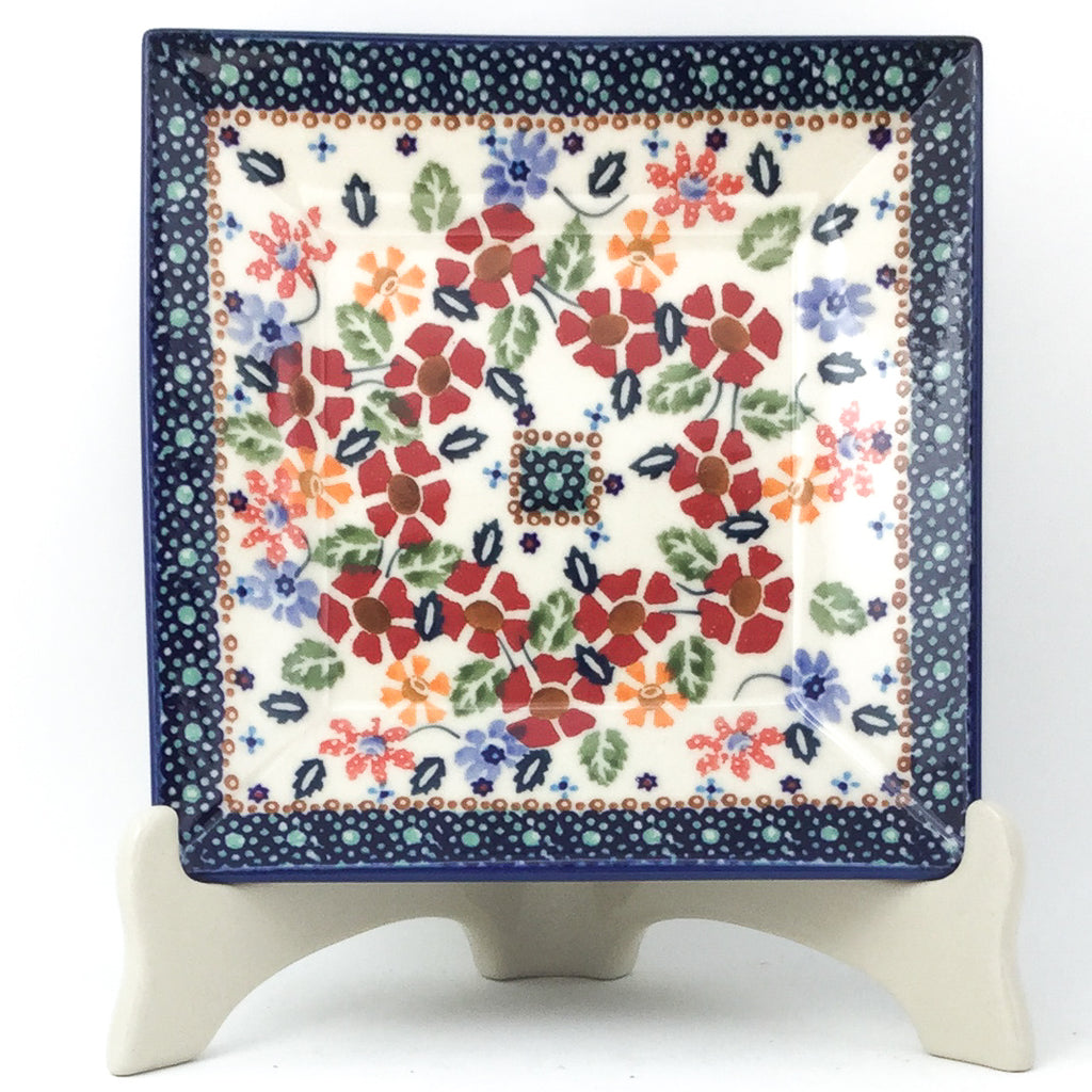 Square Luncheon Plate in Wild Flowers