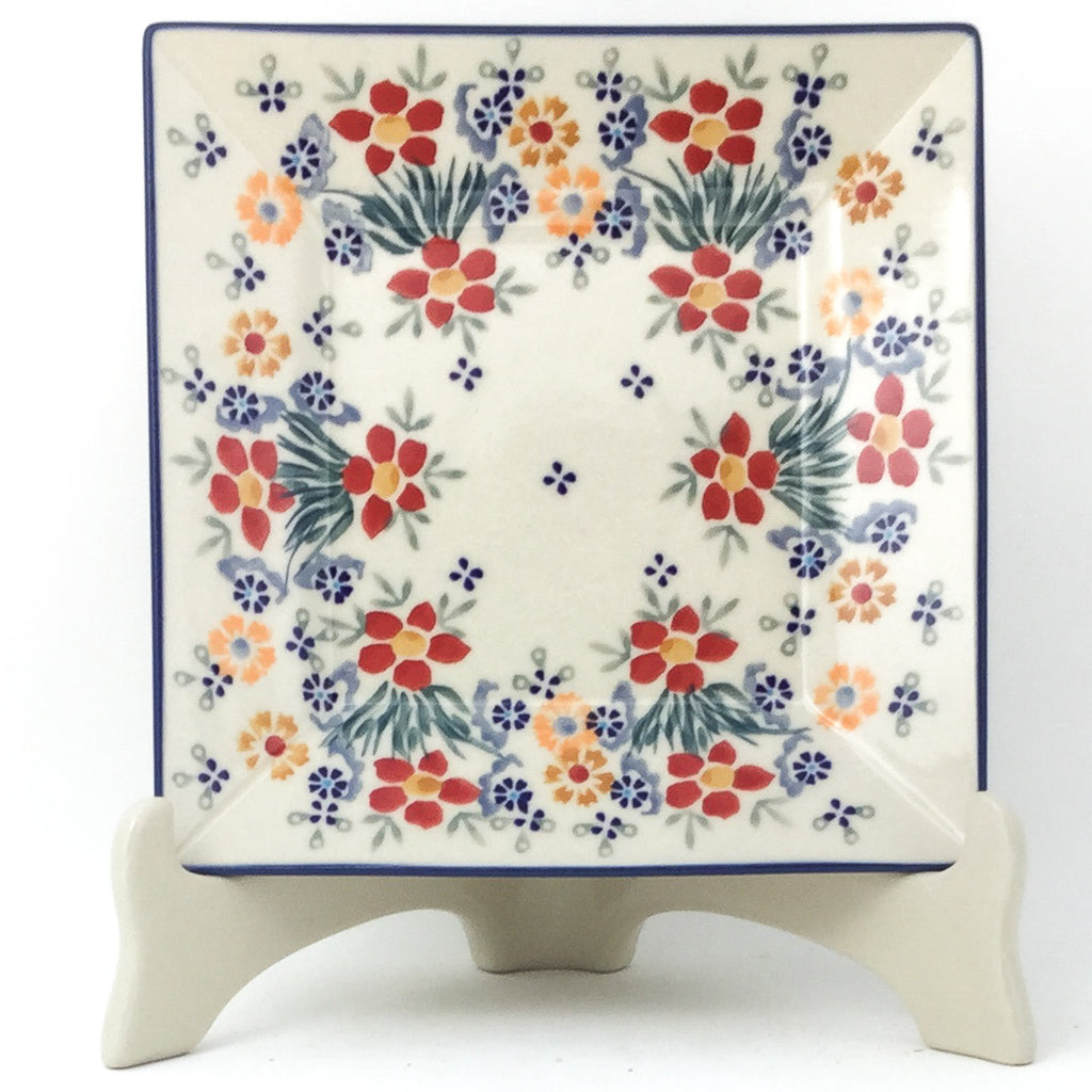 Square Luncheon Plate in Delicate Flowers