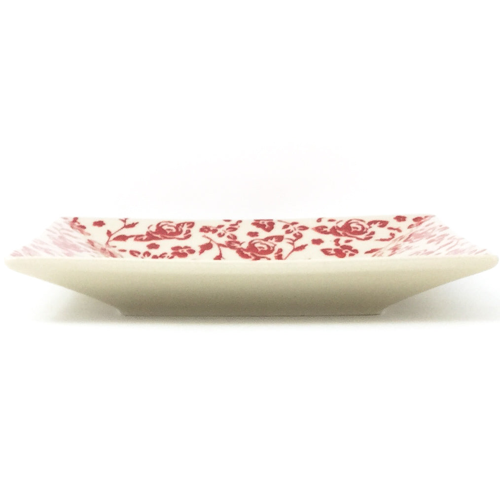 Square Luncheon Plate in Antique Red