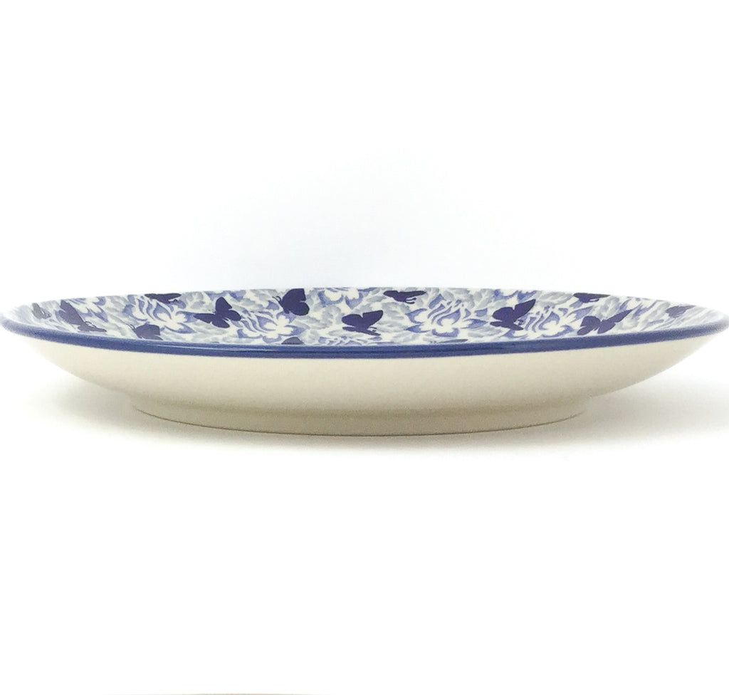 "Dinner Plate 10"" in Blue Butterfly"