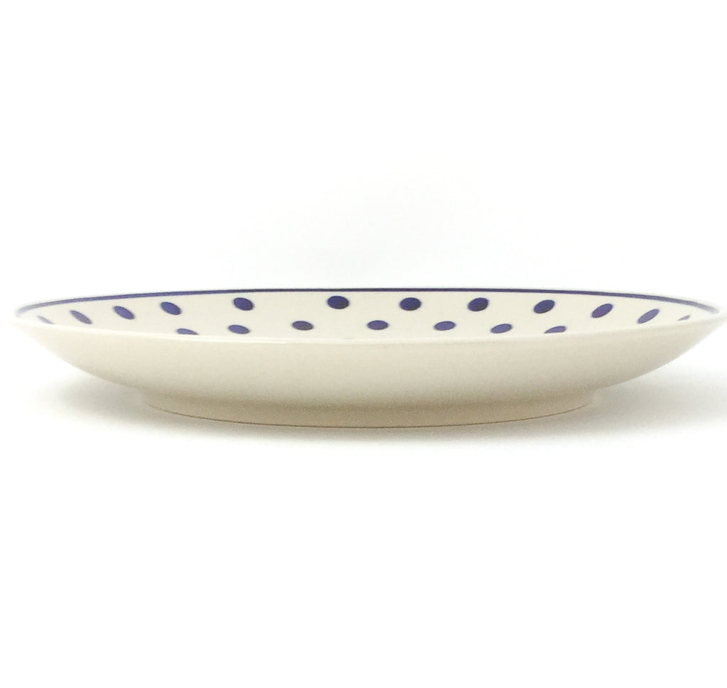 "Dinner Plate 10"" in Blue Polka-Dot"