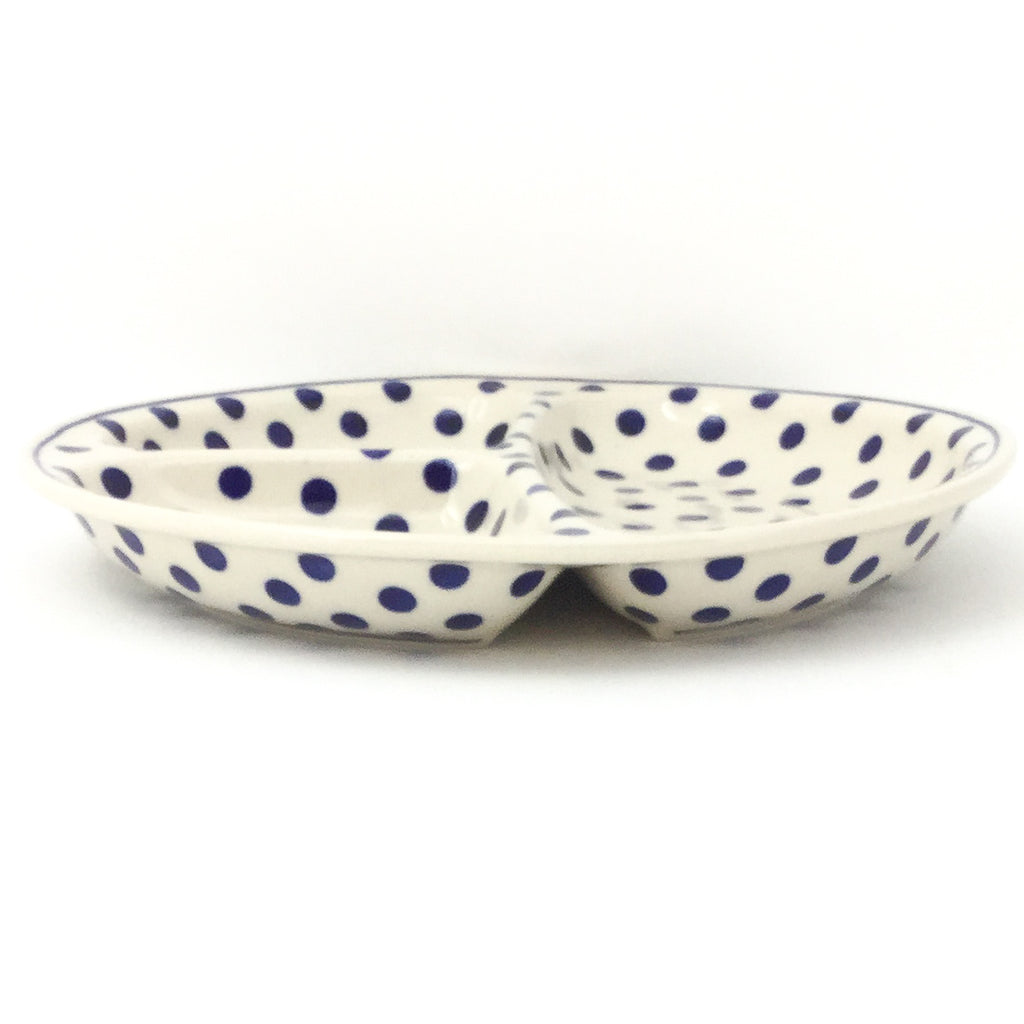 Divided Plate in Blue Polka-Dot