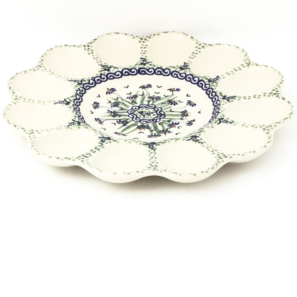 Deviled Egg Plate in Blue Iris